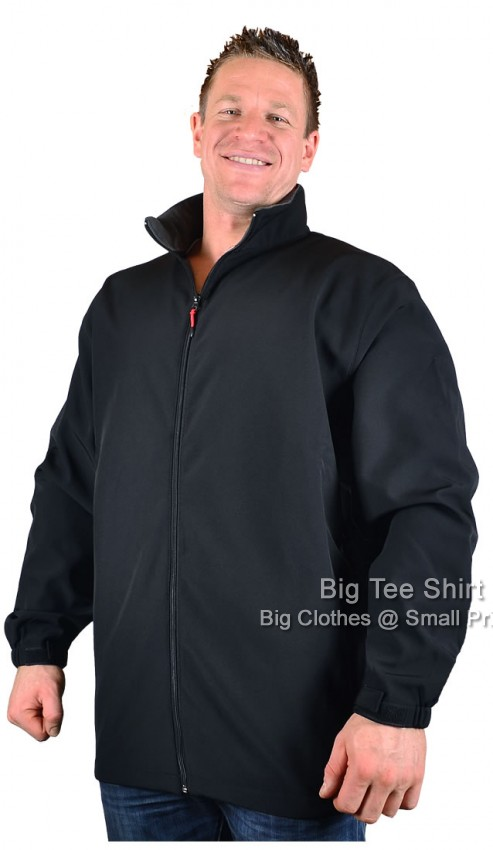 big mens black espionage hook soft shell jacket 2xl 3xl 4xl 5xl 6xl 7xl 8xl ebay. Black Bedroom Furniture Sets. Home Design Ideas