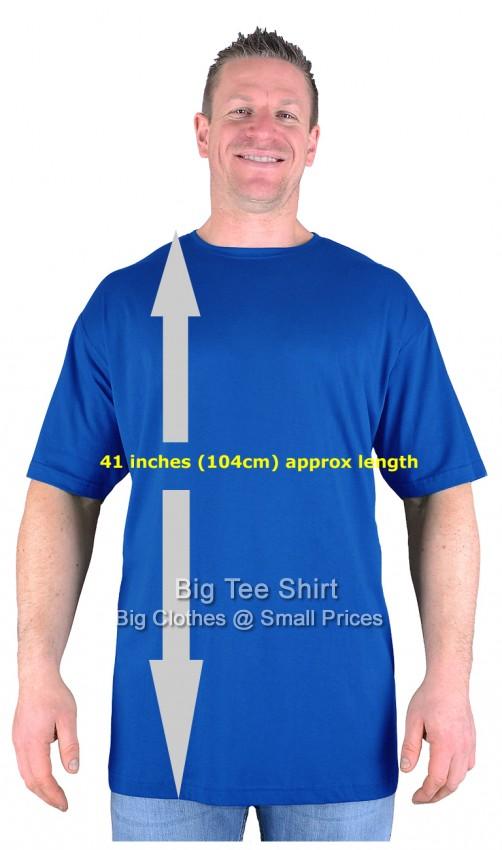 big mens royal long tall t shirt nightshirt m l xl 2xl 3xl