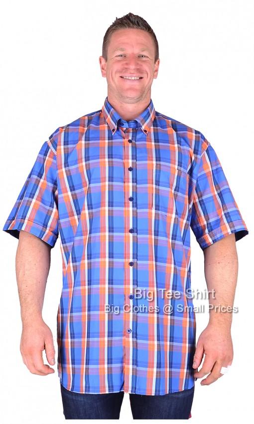 Big mens royal orange espionage nante s s shirt 2xl 3xl for 6xl button down shirts