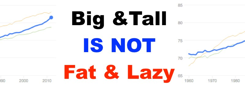 """Big and Tall"" is not ""Fat and Lazy"""
