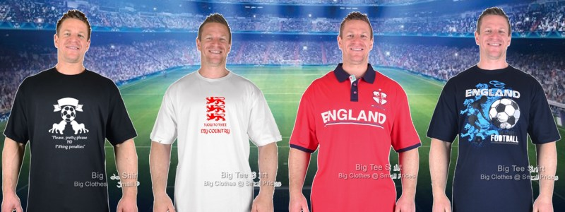Three Lions On T-Shirts… In Up To 8XL