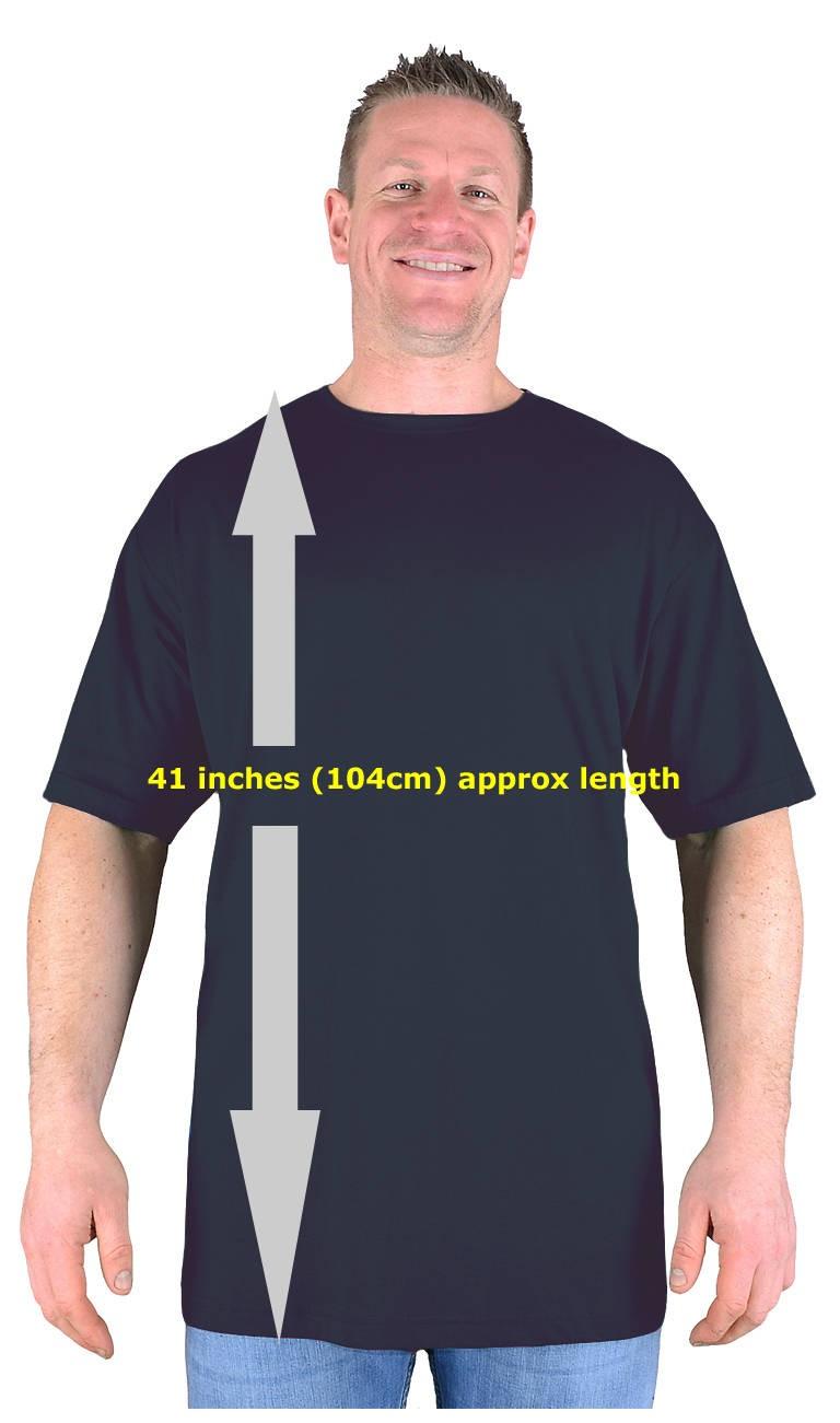 Big mens black extra tall t shirt nightshirt l xl 2xl 3xl for Extra long shirts for tall men