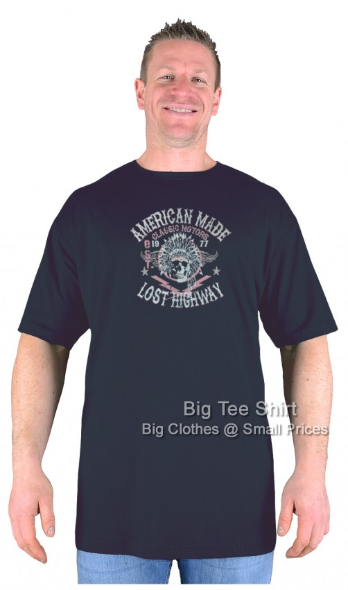 Black Big Tee Shirt American Made T-Shirt 2XL 3XL 4XL 5XL 6XL 7XL 8XL