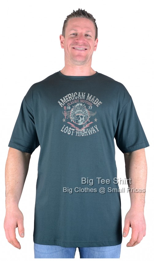 Green Big Tee Shirt American Made T-Shirt 2XL 3XL 4XL 5XL 6XL 7XL 8XL