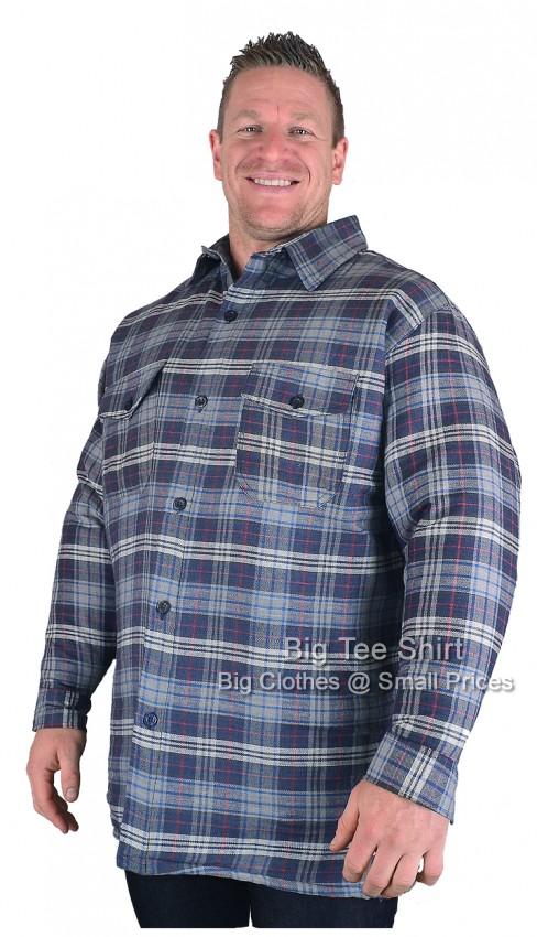 Navy Blue Kam Dave Padded Work Shirt 2XL 3XL 4XL 5XL 6XL 7XL 8XL