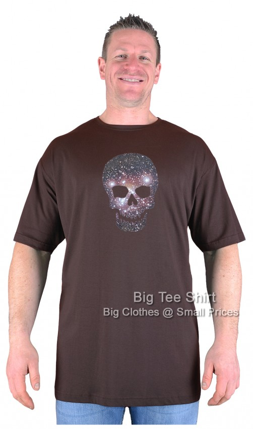 Chocolate Brown Big Tee Shirt Heavens Skull T-Shirt