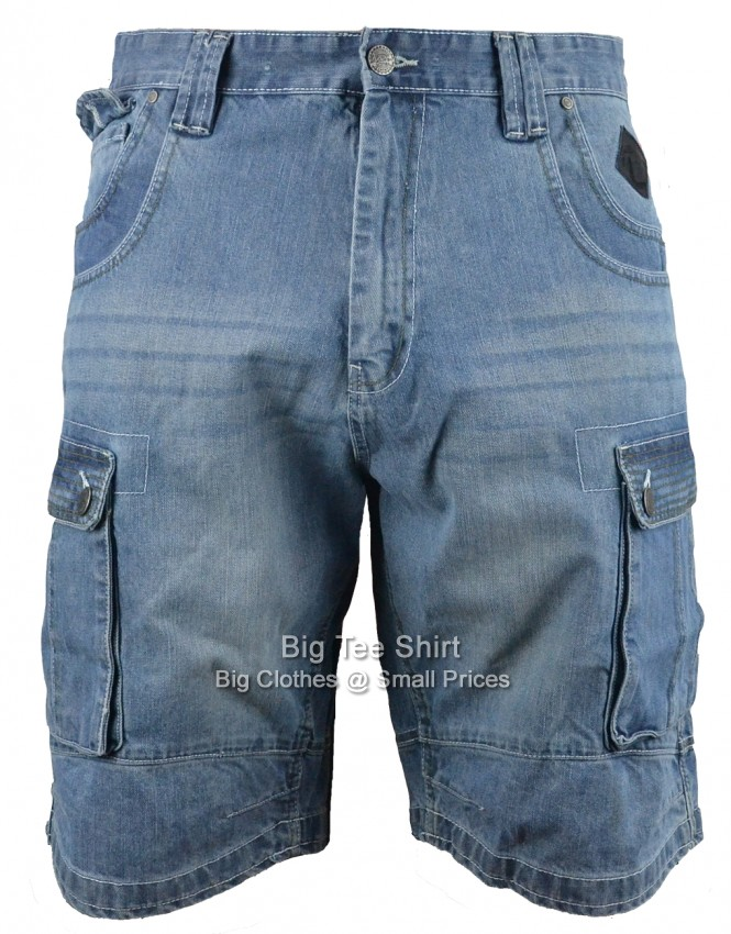 Mid Used Kam Sebastian Denim Cargo Shorts Sizes 42 44 46 48 50 52 54 56 58 60