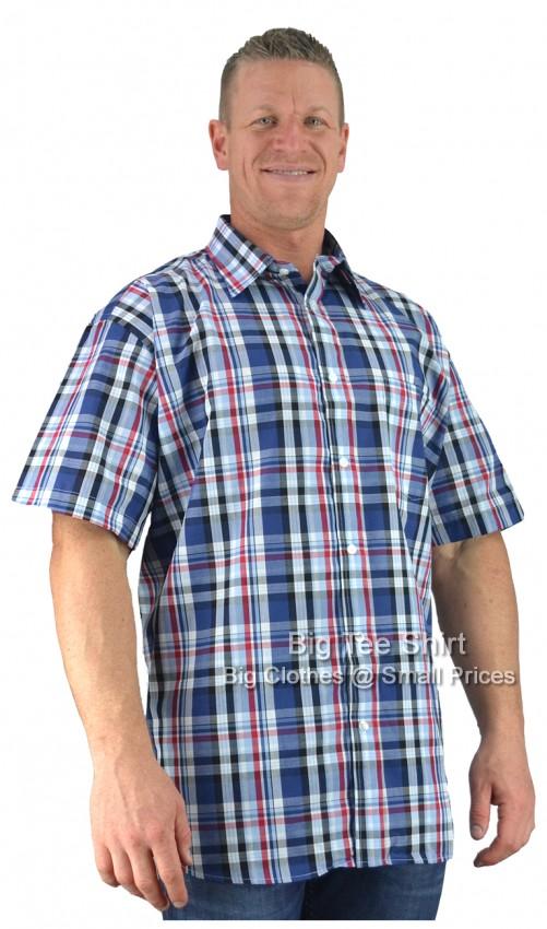 fed622ca Blue Red Metaphor Watts Short Sleeve Shirt 2XL 3XL 4XL 5XL 6XL 7XL 8XL