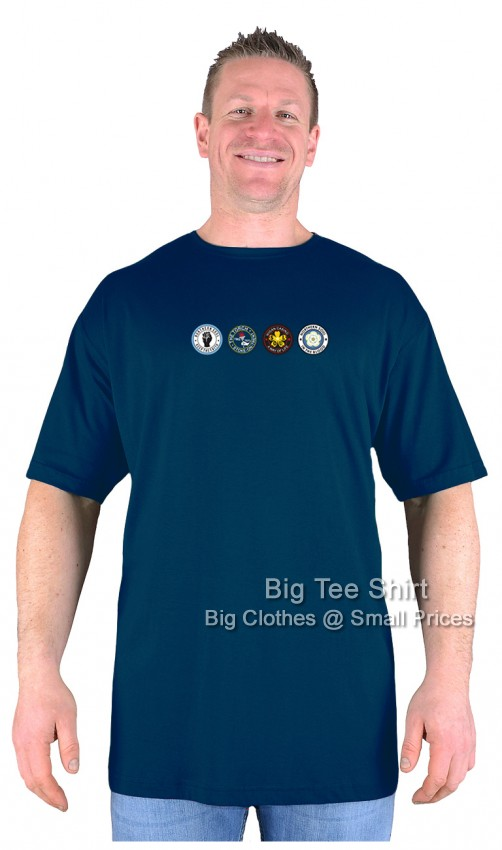 Navy Blue Big Tee Shirt Northern Soul Patches T-Shirt