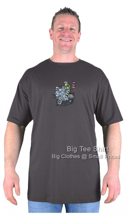 Charcoal Big Tee Shirt Mod Rider T-Shirt