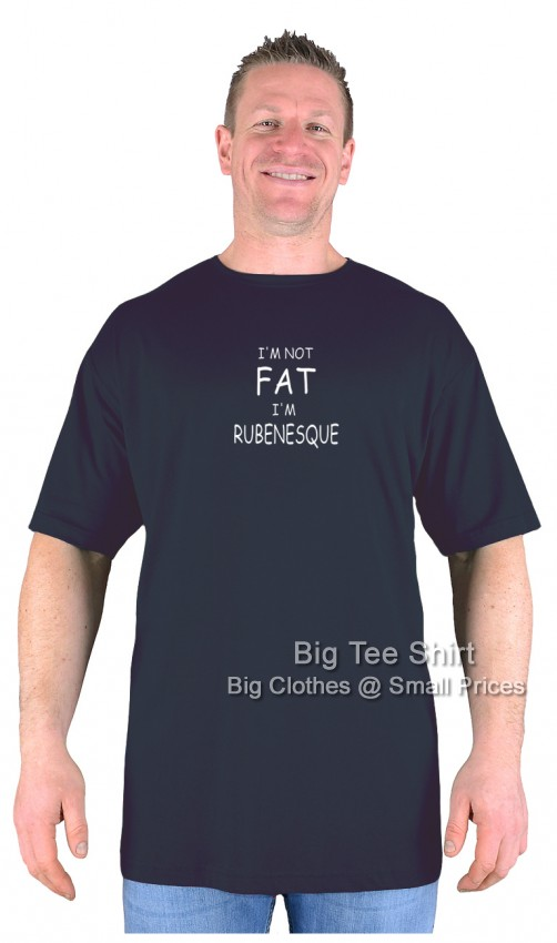 Black BTS Not Fat Rubenesque T-Shirt  - Damaged or Seconds