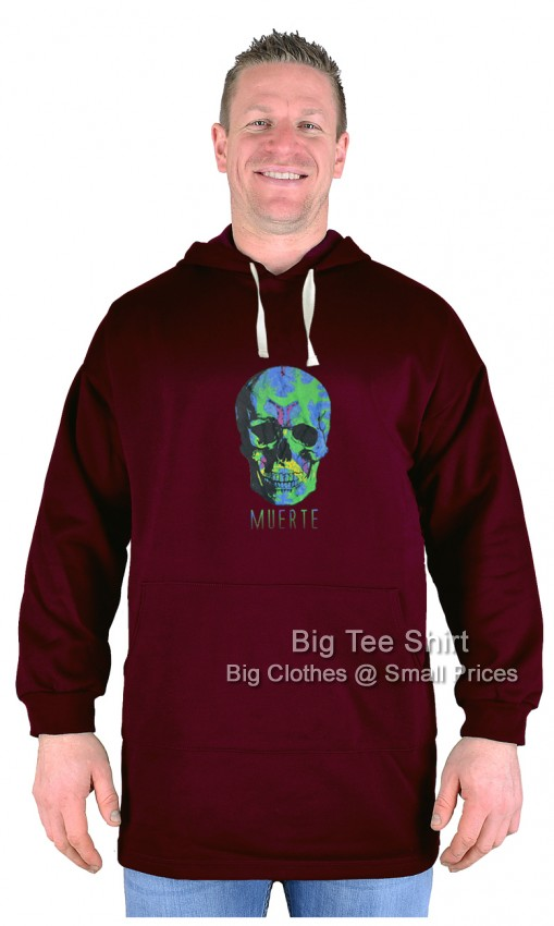 Burgundy Red BTS Skull of the Dead Pullover Hoody - Damaged or Seconds