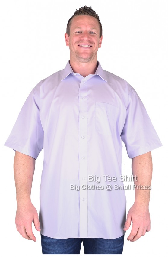 Lilac Double Two  Classic Short Sleeve Shirts