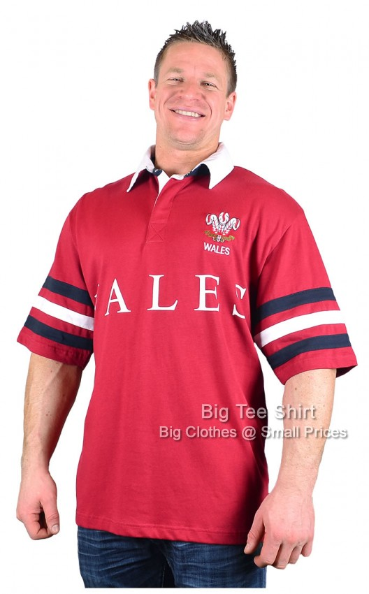 Wales Kam Nation Rugby Shirt Size 2xl to 5xl