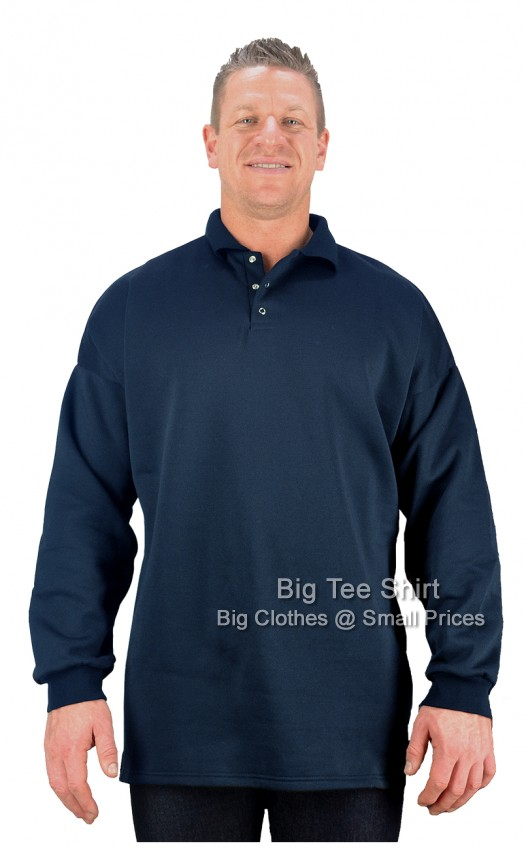 Navy BTS  Placket Sweatshirt 2xl 3xl 4xl 5xl 6xl 7xl 8xl