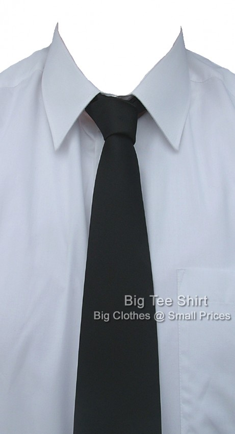 Plain Black Kensington Extra Long Tie