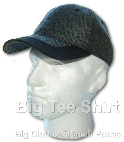 Black Herringbone Ben Sherman Baseball Cap (MB7514)