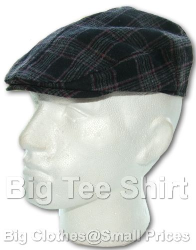 Black Red Grey Duke Guadrille Flat Cap (2730)