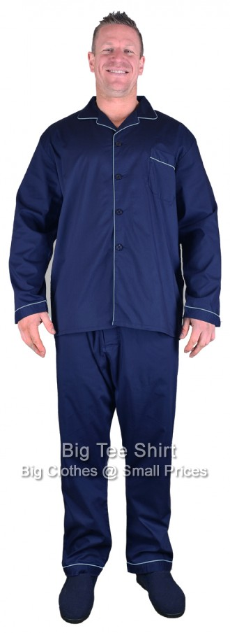 Navy Espionage Mick Pyjama Set  2xl 3xl 4xl 5xl 6xl 7xl 8xl