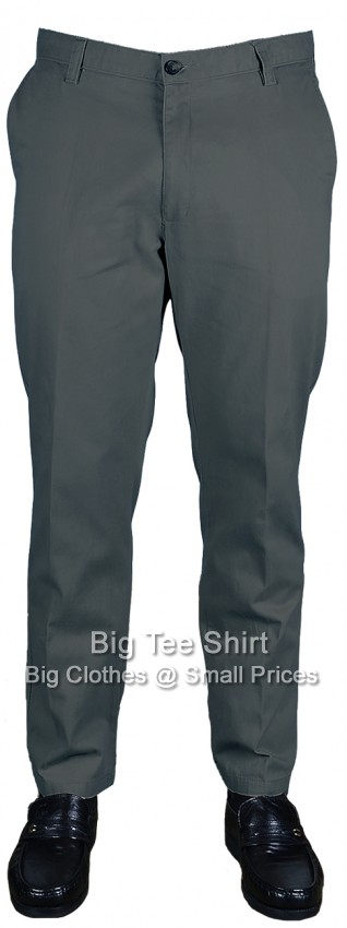 Grey Woodbury Harper Brushed Cotton Chino Style Trousers