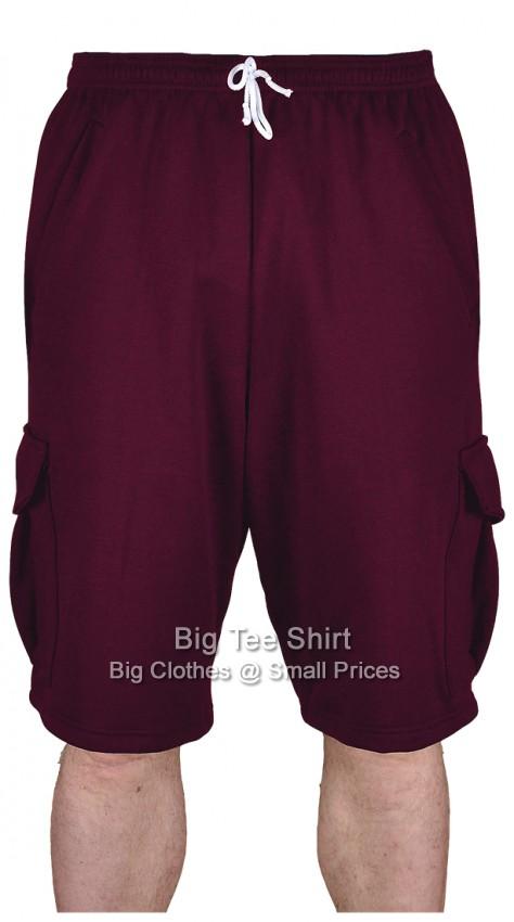 Burgundy BTS Glenn Cargo Style Shorts 2xl 3xl 4xl 5xl 6xl 7xl 8xl
