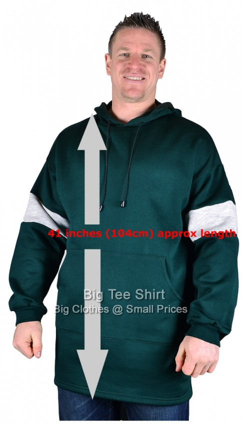 Bottle Green BTS Wells Extra Long Tall Pullover Hoodie Small to 8xl - End of line