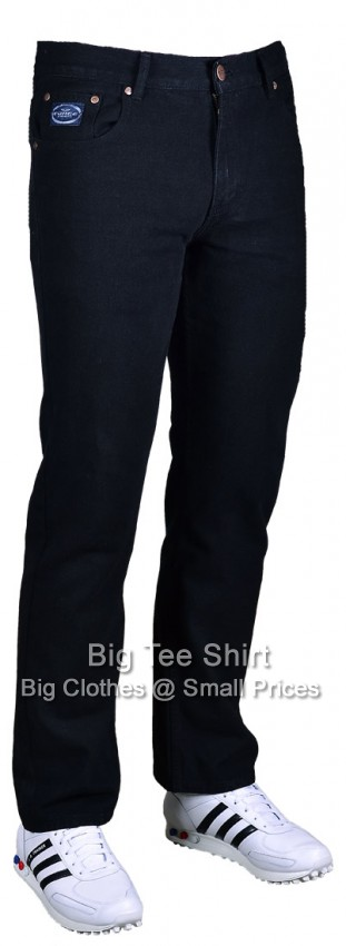 Black Kam Tuns 30 Inch IL Jeans 42 44 46 48 50 52 54 56 58 60 (S)