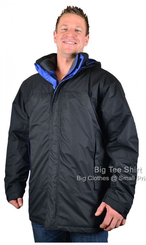 Black Espionage Pekes Waterproof  Coat 2xl 3xl 4xl 5xl 6xl  7xl 8xl - EOL