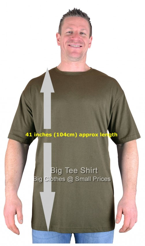 Big mens khaki long tall t shirt nightshirt m l xl 2xl 3xl for Mens 2xl tall shirts