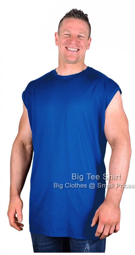 Big mens royal espionage hiker sleeveless t shirt 2xl 3xl for Mens t shirts 4xl