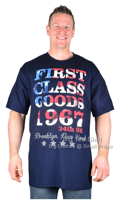 Navy Espionage First Class Goods T-Shirt  2xl 3xl 4xl 5xl 6xl 7xl 8xl - EOL