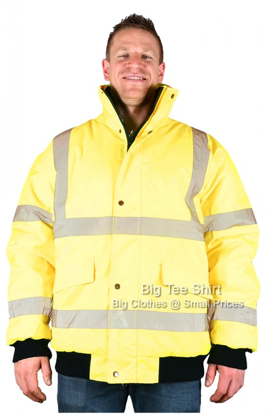 Yellow Brooklyn Marshall Hi Vis Coat 2xl 3xl 4xl 5xl 6xl 7xl