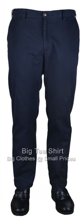 Navy Carabou Platinum 30 Inch IL Flexi Waist Chinos Size 44 to 56 (S)