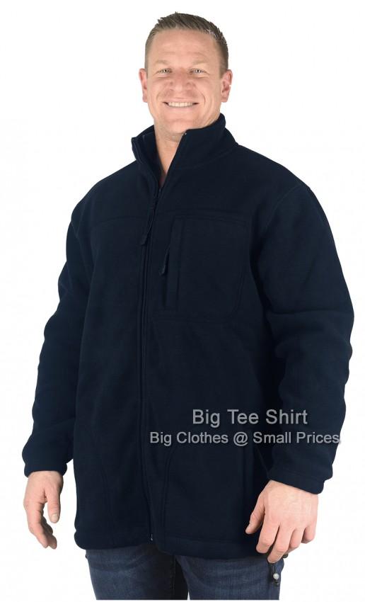 Navy Espionage Ben Fleece Jacket 2xl 3xl 4xl 5xl 6xl 7xl 8xl