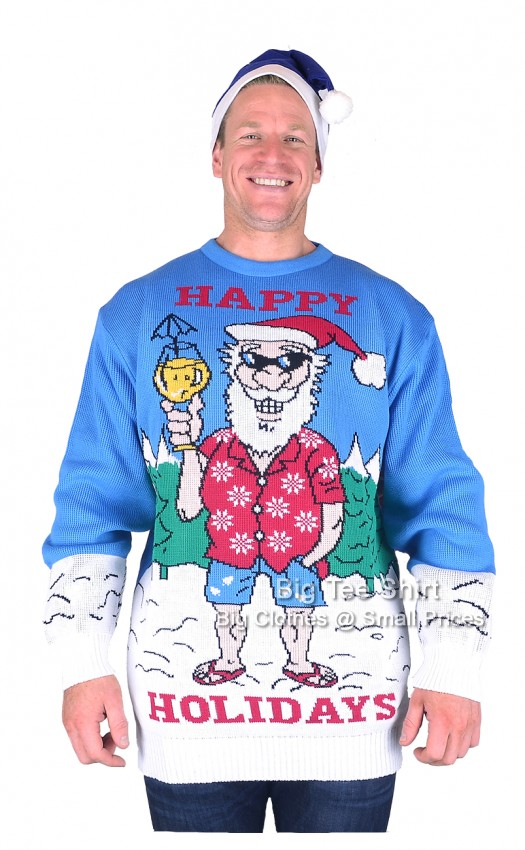 Happy Hols  Brooklyn Scenes Christmas Jumper Hat Set 2xl 3xl 4xl 5xl - EOL