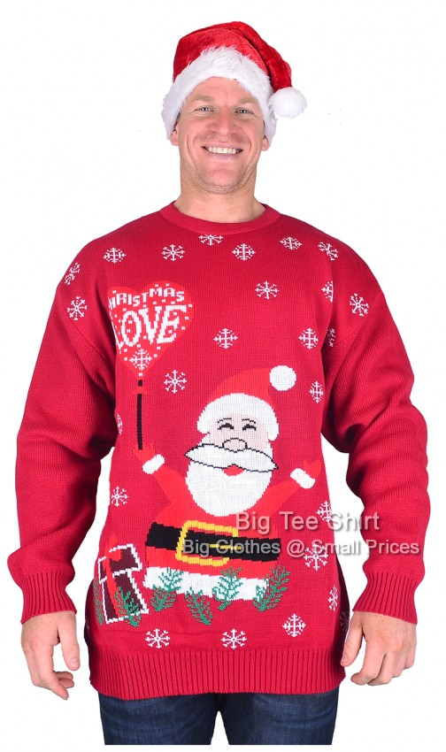 Love Brooklyn Scenes Christmas Jumper and Hat Set 2xl 3xl 4xl 5xl - EOL