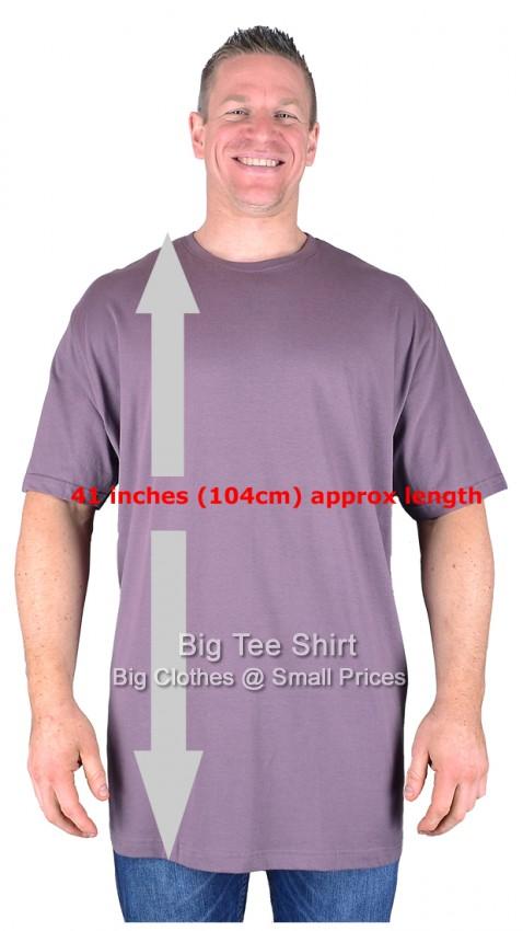 Big mens mauve long tall t shirt nightshirt l xl 2xl 3xl for Mens 2xl tall shirts