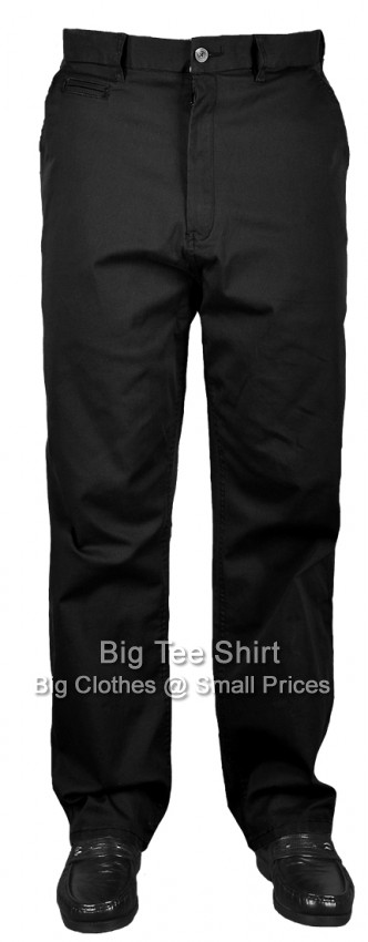 Black Espionage Maccan 33 IL Stretch Chinos  46 48 50 52 54 56 58 60