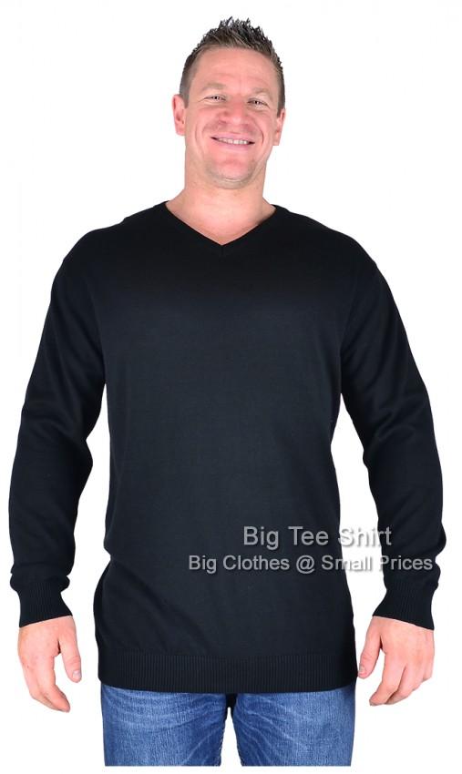 Black Cotton Valley Dru Fine Knit Cotton Sweater 2xl 3xl 4xl 5xl