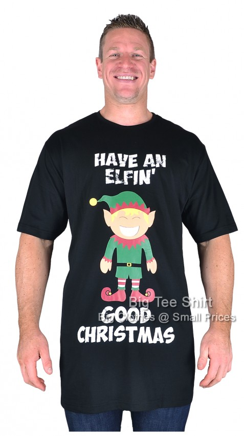 Black Espionage Elfin Funtime Christmas T-Shirt   - EOL