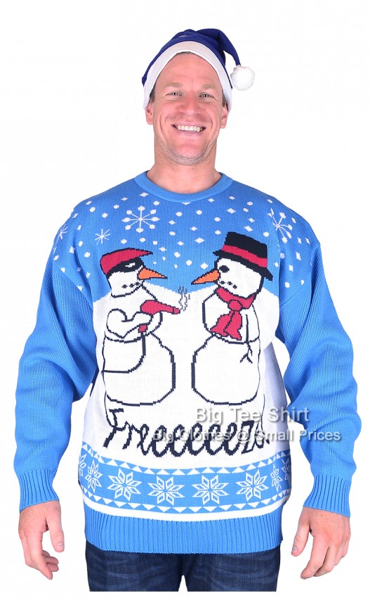 Freeze  Brooklyn Scenes Christmas Jumper Hat Set 2xl 3xl 4xl 5xl - EOL