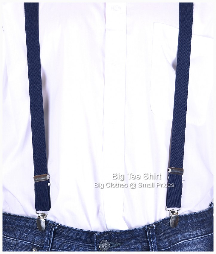 Navy Knightsbridge Braces One Size Fits All