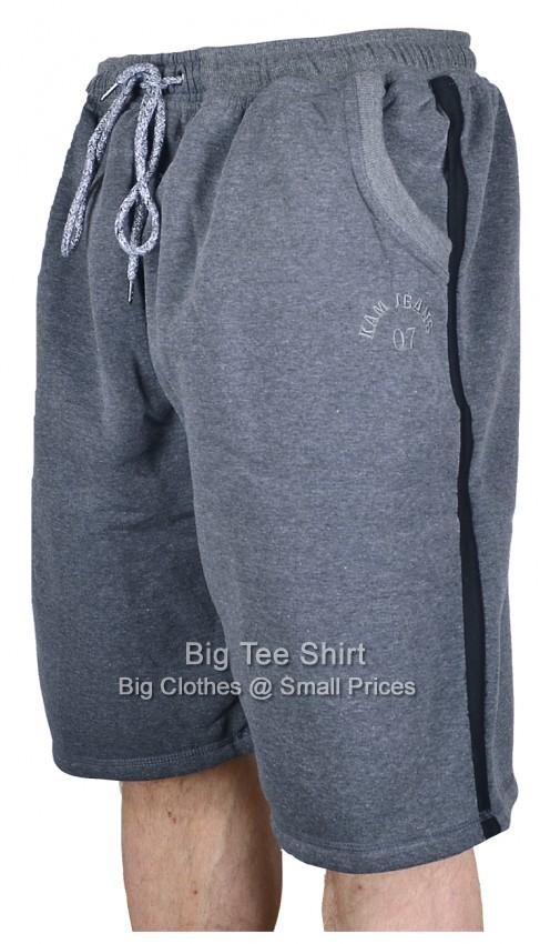 Charcoal Kam Tucker Sweat Jog Shorts 2xl 3xl 4xl 5xl 6xl 7xl 8xl