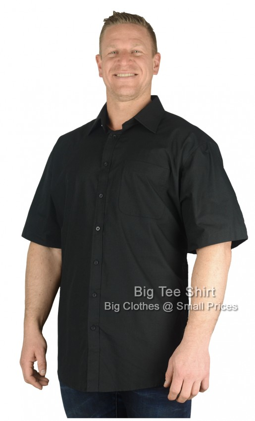 Black Espionage Hunter Plain  S/S Shirt 2xl 3xl 4xl 5xl 6xl 7xl 8xl