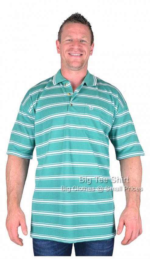 Green Brooklyn Clay Polo Shirt 2xl 3xl 4xl 5xl 6xl  - EOL