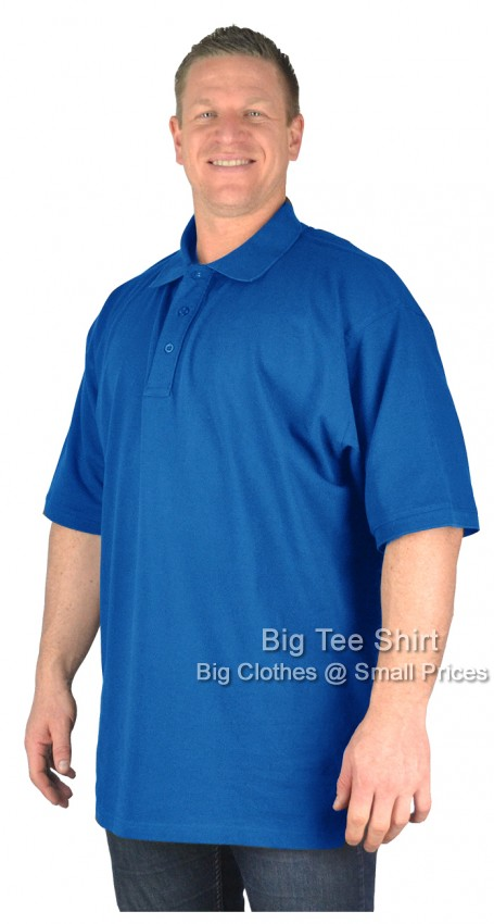 Royal Blue BTS Duran Cotton Polo Shirt 2xl 3xl 4xl 5xl 6xl 7xl 8xl