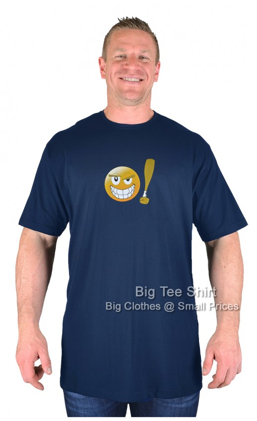 Navy Blue BTS Nasty Smiley T-Shirt 2xl 3xl 4xl 5xl 6xl 7xl 8xl