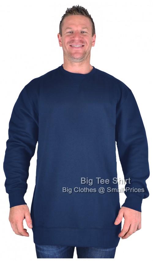 9735dad2 Navy Kam Karlson Plain Sweatshirt 2xl 3xl 4xl 5xl 6xl 7xl 8xl