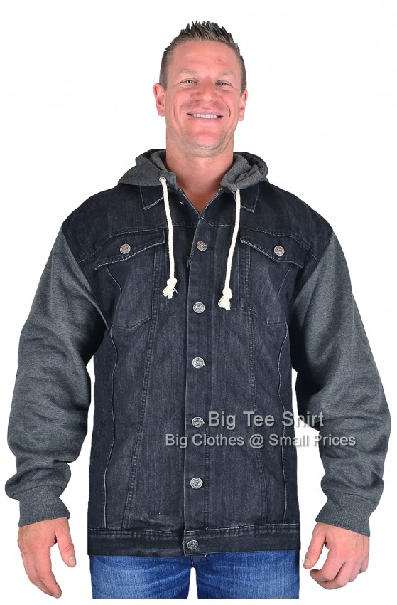 Black Kam Conte Denim Jacket 2xl 3xl 4xl 5xl 6xl 7xl 8xl
