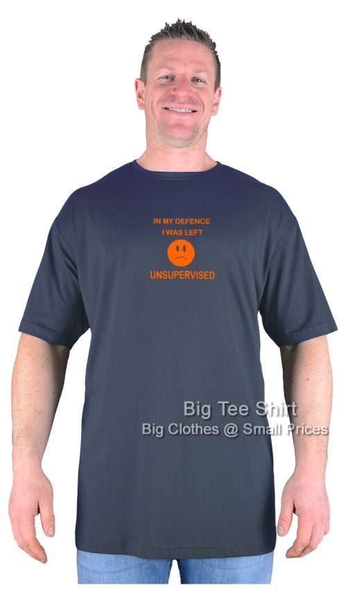 Charcoal BTS Unsupervised T-Shirt Sizes 2xl to 8xl